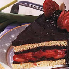 Hazelnut, Chocolate and Strawberry Torte