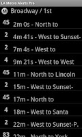Screenshot of LA Metro Alerts Pro