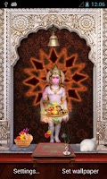 Screenshot of Lord Hanuman 3D Temple LWP