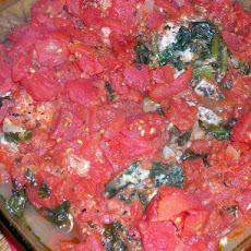 Basil, Spinach & Tomato Pork Strips