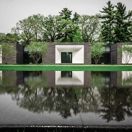 Lakewood by Mark Goodman - Buildings & Architecture Other Exteriors ( minnesota, lakewood cemetary, reflections )