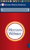 Screenshot of Dictionary - M-W Premium