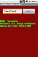 Screenshot of Mobile Number Tracker India