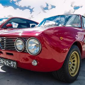 Cuoro Sportivo by José Borges - Transportation Automobiles ( red, alfa romeo, 1600 gt, racing car )