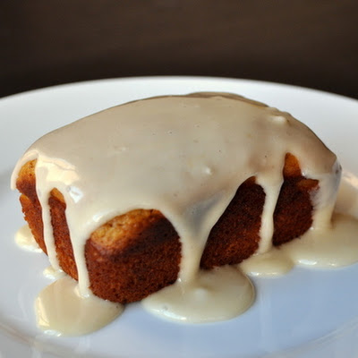 Pumpkin Butter Tea Cakes with Orange Glaze
