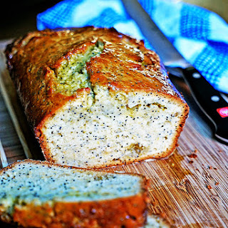 Lemon Poppy Seed Bread with Candied Lemon