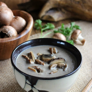 Slow Cooker Exotic Mushroom Soup