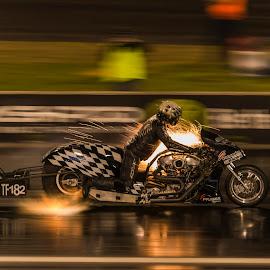 Nitro Eploding by Ron Harper - Sports & Fitness Motorsports ( explode, hp, bike, ron, track, motorsport, fire, harper, nitro )