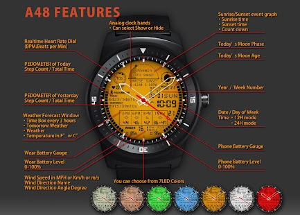 A48 WatchFace for Round Wear