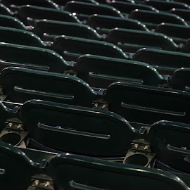 Greenbacks by Anthony Stark - Novices Only Abstract ( abstract, anthony stark, novice, seat, baseball, green, photography, greenbacks )