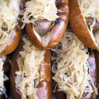 Grilled Beer-Braised Bratwursts