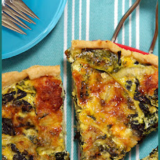 Zucchini, Kale and Onion Quiche