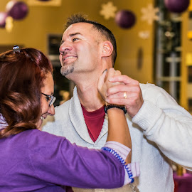 In Love and Dancing  by Valerie Yelk - People Street & Candids ( dancing, event, candid, couple, party )