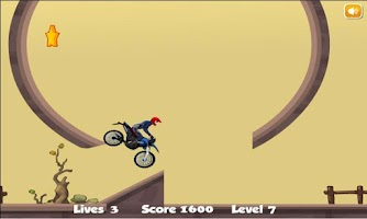 Screenshot of Mountain Moto : Downhill