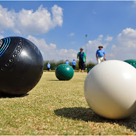 Lawn bowls by Johann Perie - Sports & Fitness Other Sports ( lawn bowls, close up )