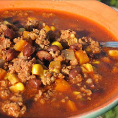 Salsa Beef Chili  (Crock Pot)