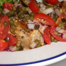Grilled Tuna with Cherry Tomato Salsa