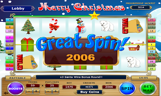 Merry Christmas Slots - screenshot