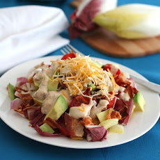 Endive Avocado & Bacon Salad with Chipotle Ranch Dressing