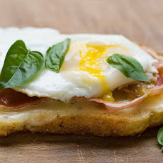 Grilled Provolone, Egg and Pancetta Sandwiches