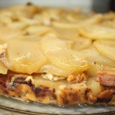 White Cheddar, Apple, and Bacon Cheesecake