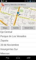 Screenshot of Metro y Metrobus de Mexico