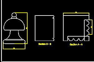 CAD Drawings of Bespoke Bedhead