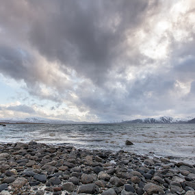 Big clouds by Benny Høynes - Landscapes Cloud Formations ( clouds, hills, sea, rain, city, norway )
