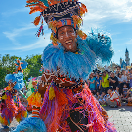 Colors of Disney by Kevin Chua - People Musicians & Entertainers ( hong kong, colors, disneyland, dance, entertainer )
