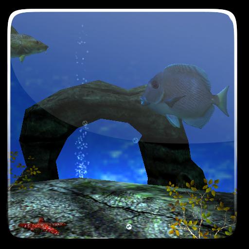 個人化App|海洋水族館3D壁紙 LOGO-3C達人阿輝的APP