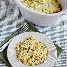 Spicy Slow Cooker Rice with Green Chiles, Green Onions, and Cheese