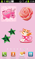 Screenshot of 100 Cute Girly Stickers ^_^