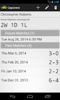 Screenshot of Match Diary
