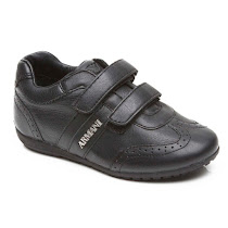 Armani Cut Out Leather Trainer TRAINER