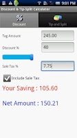 Screenshot of Discount & TipSplit Calculator