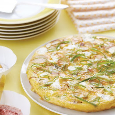 Potato, Scallion, and Goat Cheese Frittata