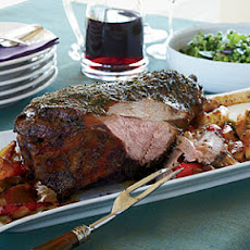 Garlic-and-Herb-Crusted Leg of Lamb