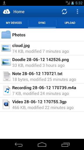 just-cloud for android screenshot