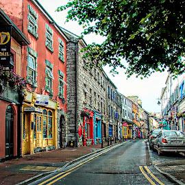Street of Scotland by Chris KIELY - City,  Street & Park  Neighborhoods ( colour, scotland, england, houses, colourful, color, street, scottish, road, architecture, homes, neighbourhood )