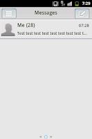 Screenshot of GO SMS PRO Theme - Black White