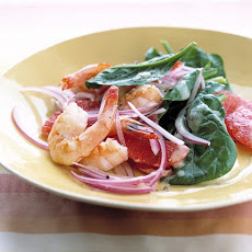Shrimp and Grapefruit Spinach Salad