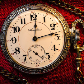 Grandpa's Timepiece by Gary Hanson - Artistic Objects Antiques ( pocketwatch, timepiece, red, grandpa, gold,  )