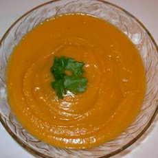 Butternut Squash-Sweet Potato Ginger Bisque