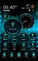 Screenshot of CyanLight Next Launcher Theme