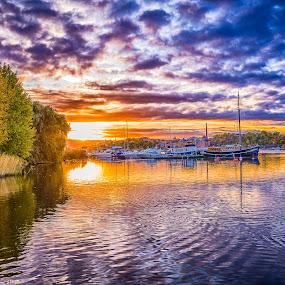 Sunset/Stockholm by Dan Westtorp - Landscapes Sunsets & Sunrises