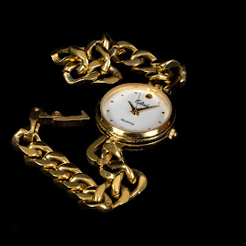 gold watch by Vibeke Friis - Artistic Objects Clothing & Accessories ( watch, gold,  )