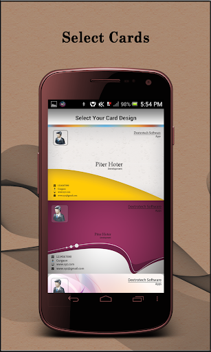 Visiting Card Organizer Pro - screenshot