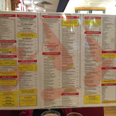 Huge menu! Gluten free bread available for sandwiches. Very fun atmosphere...New York Deli feel.