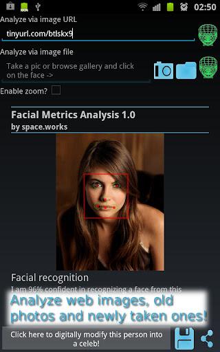 顔のメトリックの分析ツール