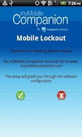 Screenshot of Mobile Lockout